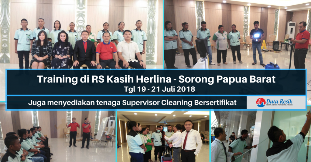 Training Cleaning - RS Kasih Herlina