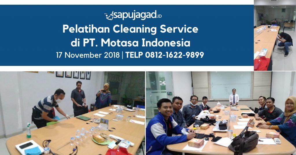 Pelatihan Cleaning Service di Motasa Indonesia