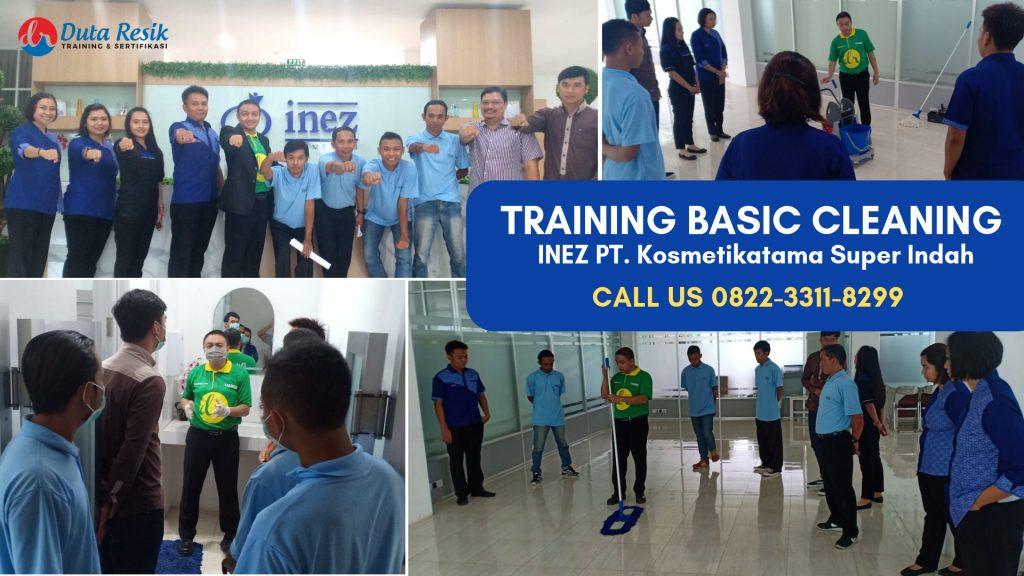 Training Cleaning Service di INEZ PT. Kosmetikatama Super Indah Malang