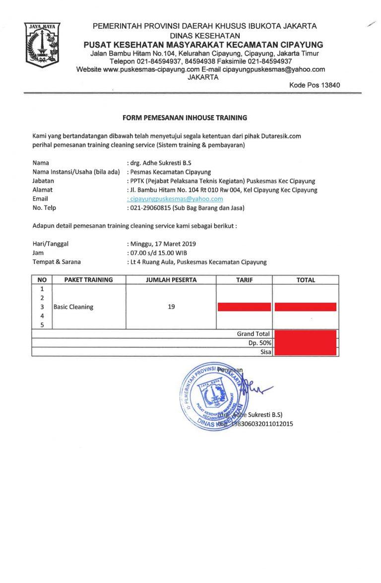invoice training di puskesmas cipayung