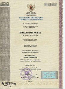 sertifikat kompetensi cleaning