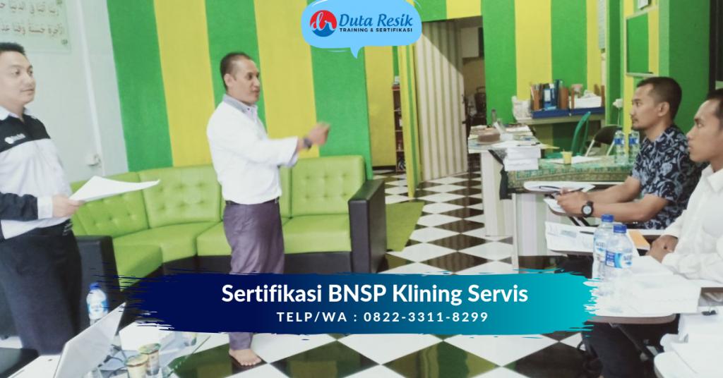 Sertifikat BNSP Klining Servis