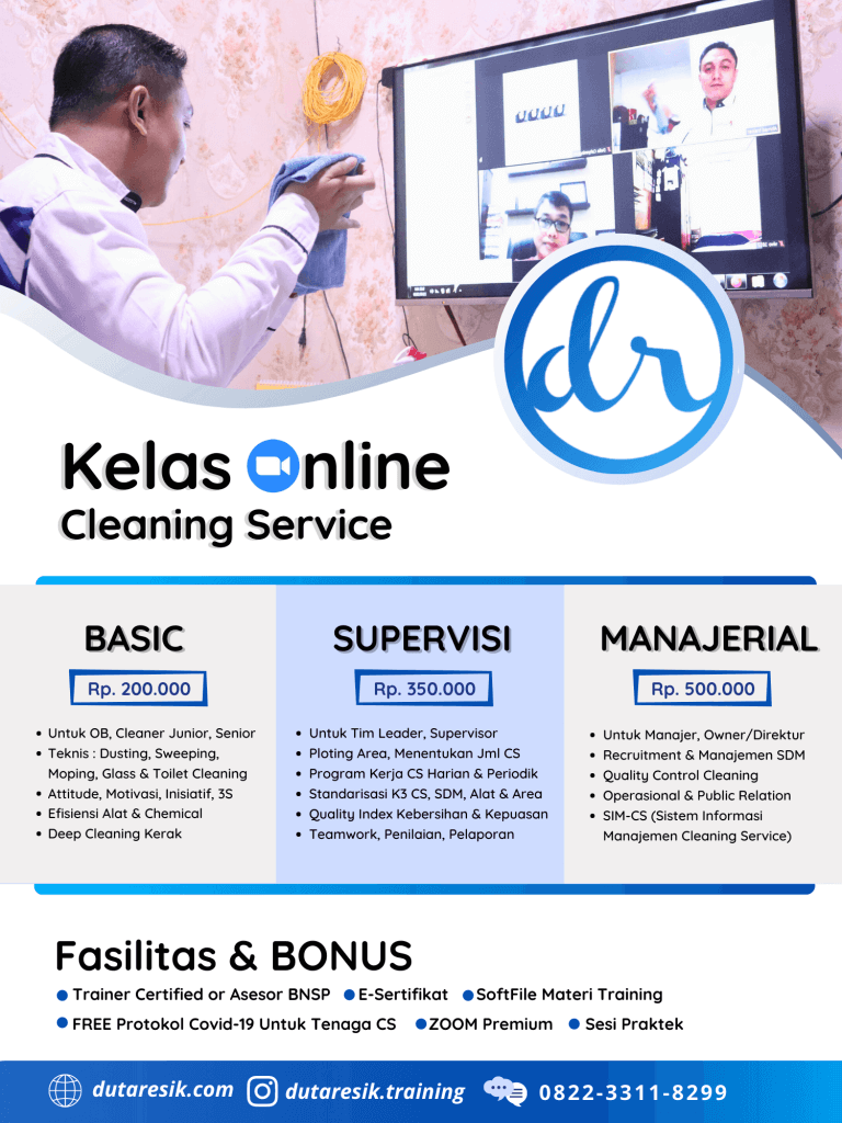 Flyer Training Cleaning Service Online