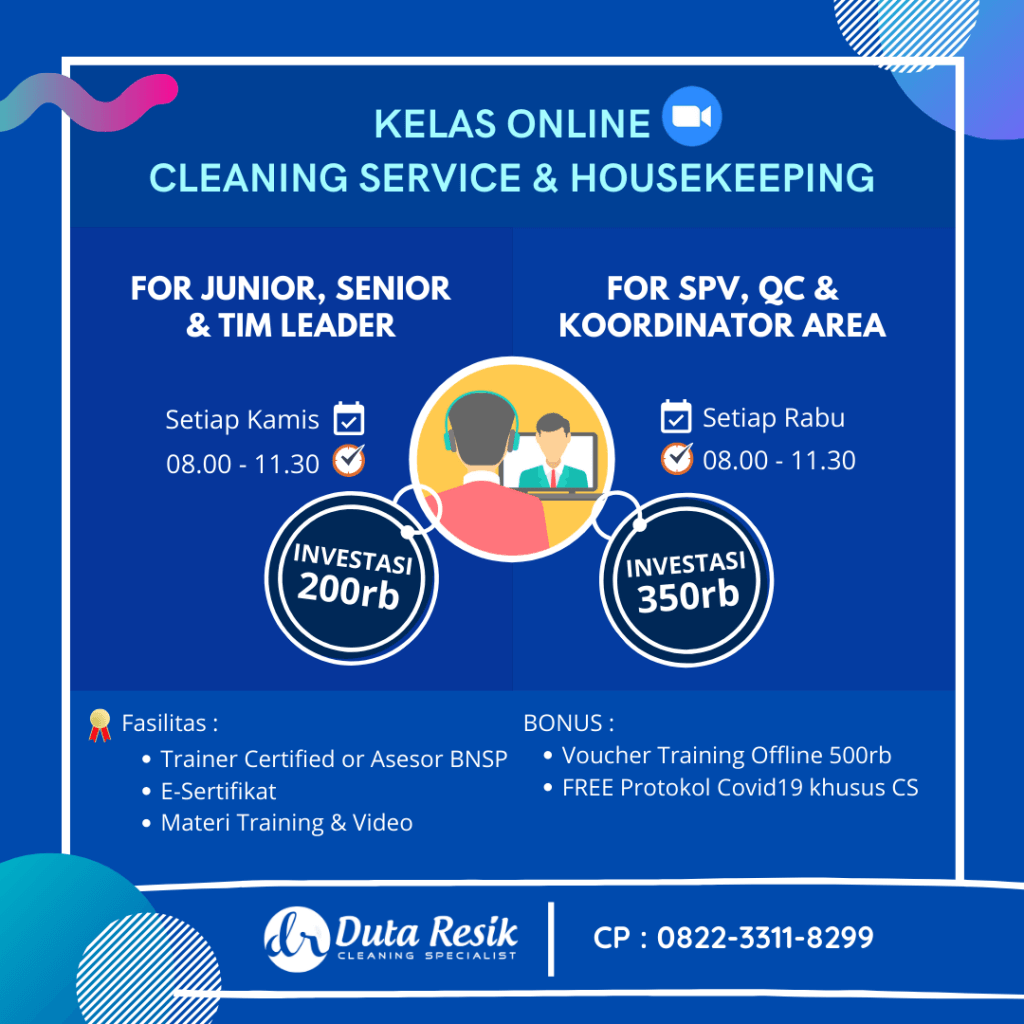 Kelas Training Online Cleaning Service